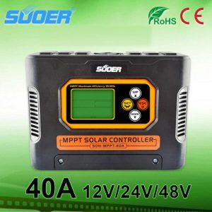 Bộ điều khiển chuyển đổi sạc năng lượng mặt trời SON-MPPT 40A Suoer 40A